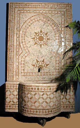 Artigianato su misura zellige mosaico fontane zellige for Parete a mosaico