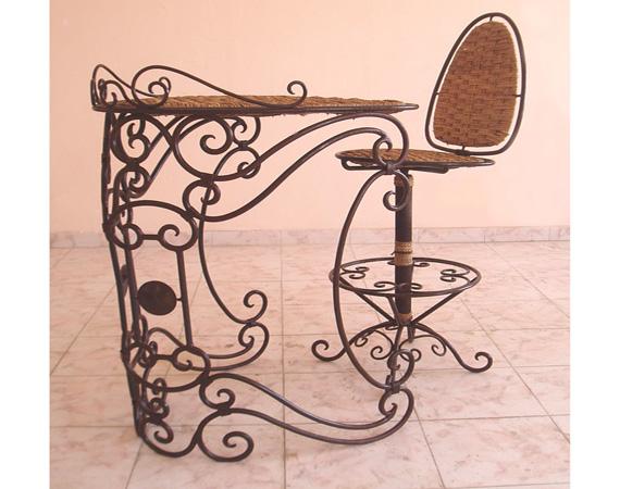 Sedia con tavolino articolo prodotto marocchino sedia e tavolino marocchini in ferro forgiato e vi - Mobili marocchini ...