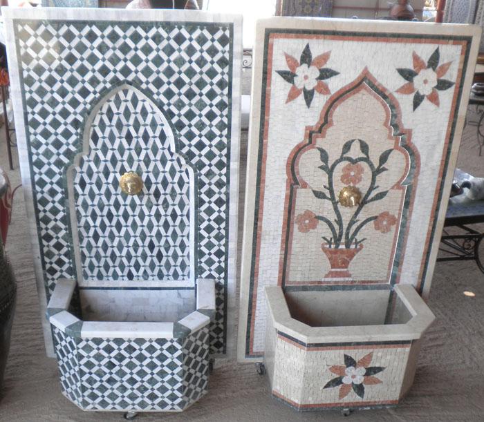 Fontane zellige articolo prodotto marocchino fontane da for Parete a mosaico