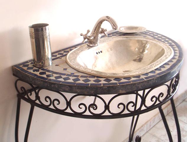 Artigianato su misura arredo bagno consolle bagno - Mobile bagno ferro battuto ...
